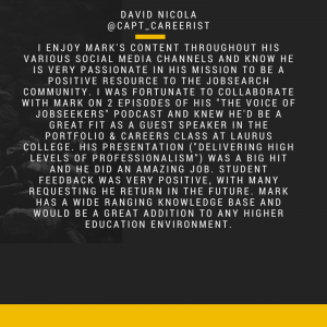 David Nicola recommendation