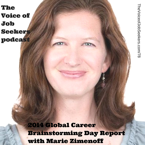 2014 Global Career Brainstorming Day Report with Marie Zimenoff