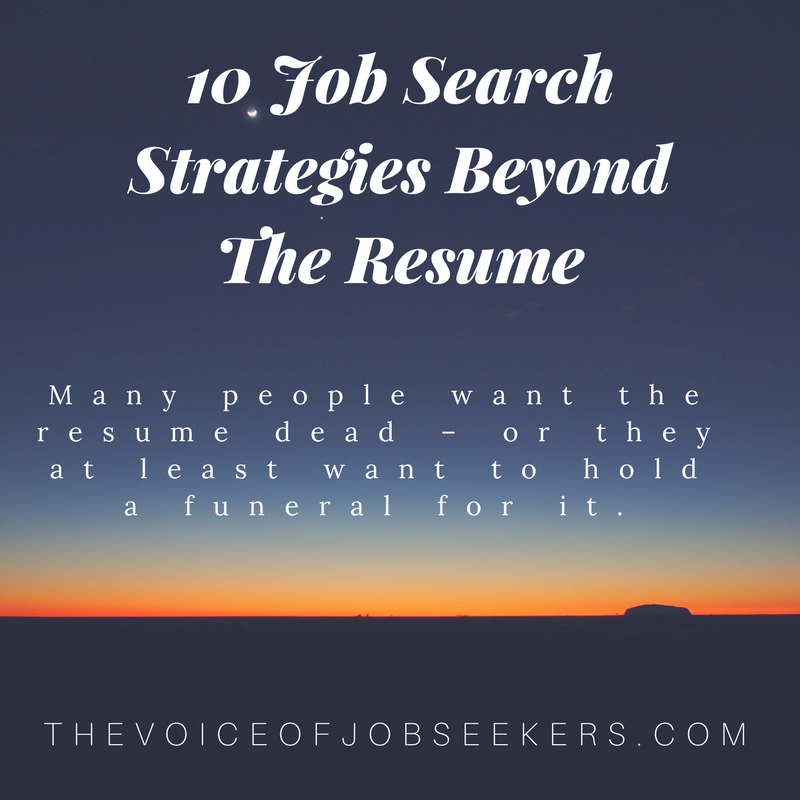 Beyond.com Resume | 10 Job Search Strategies Beyond The Resume The Voice Of Job Seekers